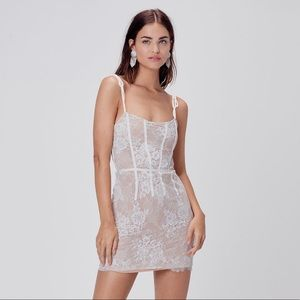 For Love and Lemons Cheyenne Lace Mini Dress